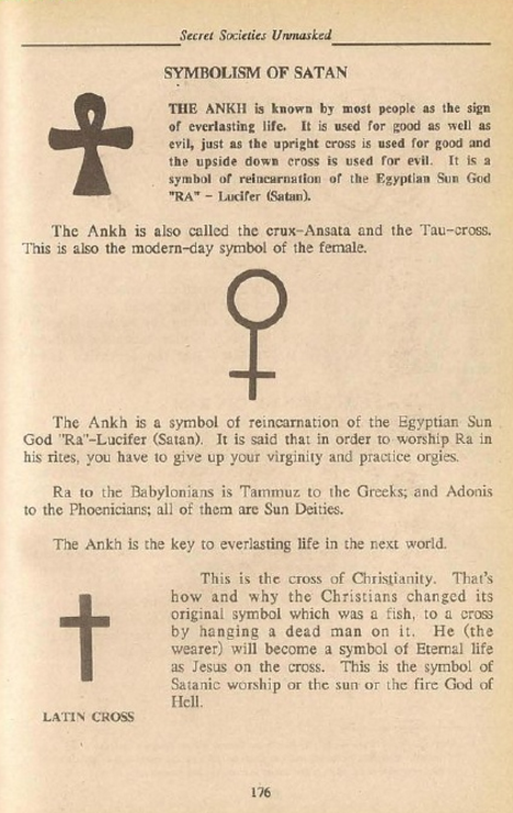 Ask The Nuwaupians Is The Egyptian Ankh A Symbol Of Satan According